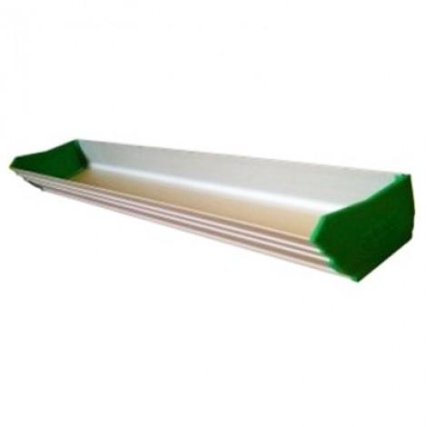 Cubeta de aluminio para extender la emulsión, de distintos tamaños