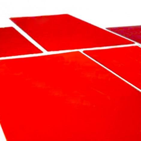 Clichés tampográficos de fotopolímero rojo. Paquete de 10 unidades.