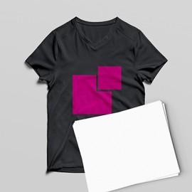 carta transfer stampa su tessuti scuri non autoscontornante